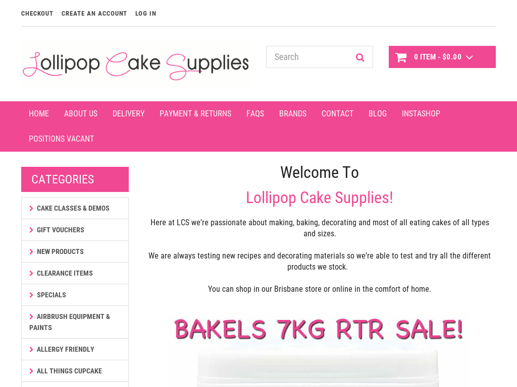 Lollipop Cake Supplies Discount code